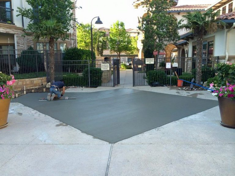 Commercial Concrete Patio